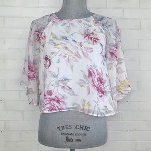 House of Harlow White Floral Marloes Blouse